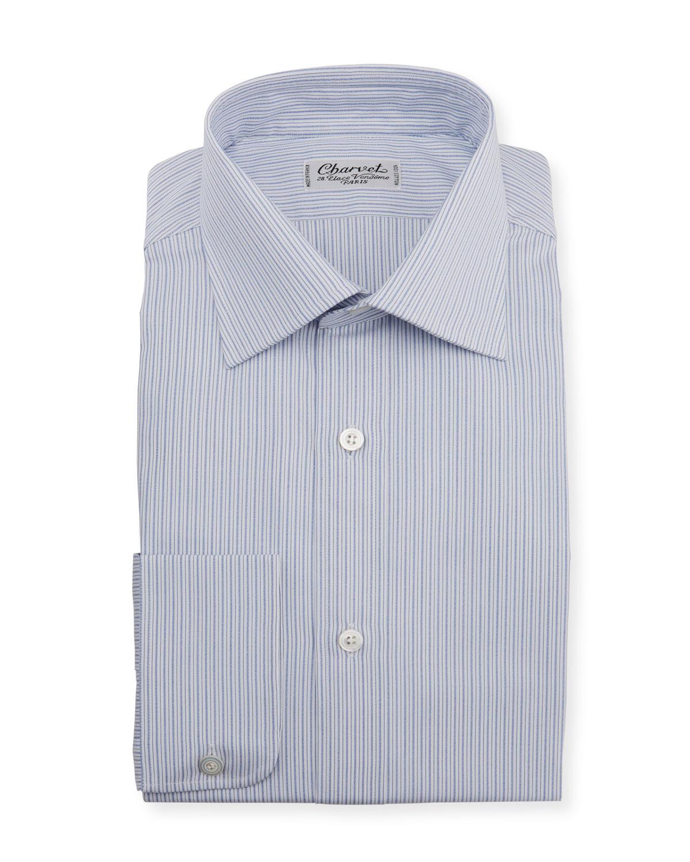 Men's Striped Melange Dress Shirt