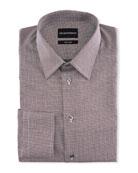 Emporio Armani Men's Micro-Pattern Dress Shirt
