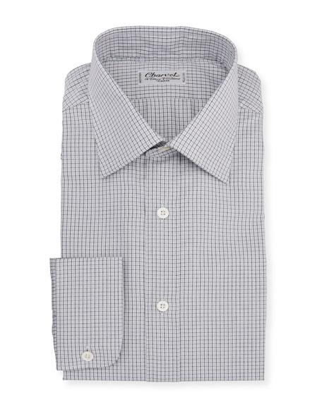 Charvet Men's Plaid Melange Dress Shirt