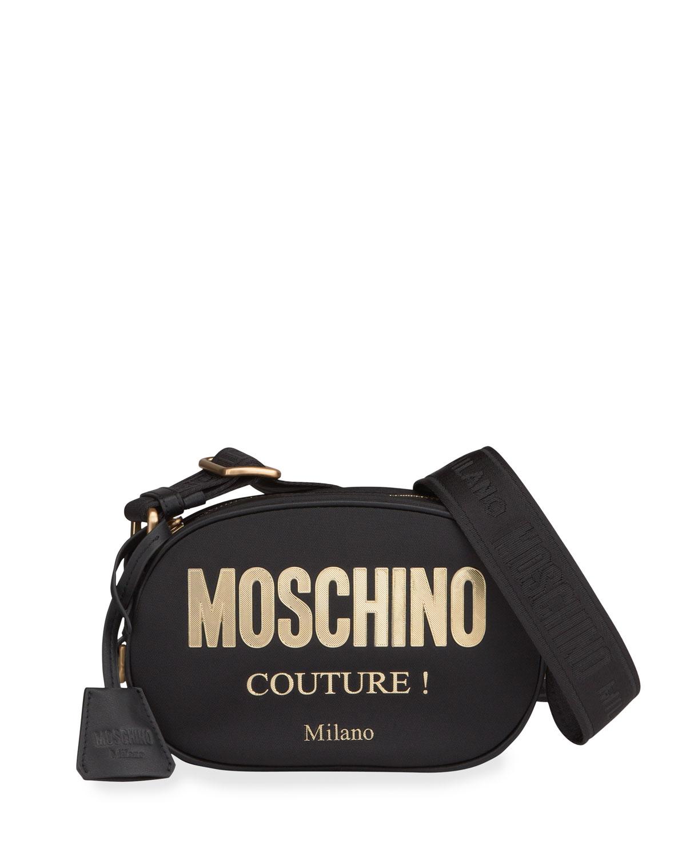 Moschino MEN'S ROUND LOGO CROSSBODY BAG