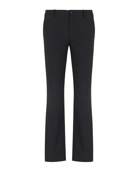 Giorgio Armani Men's Stretch Wool Straight-Leg Pants
