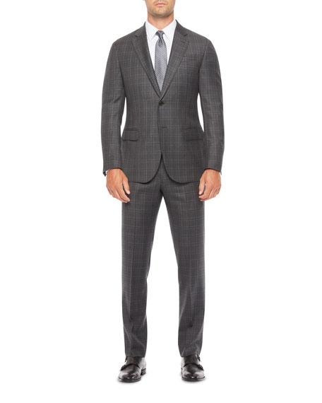 Emporio Armani Men's G-Line Windowpane Wool Suit