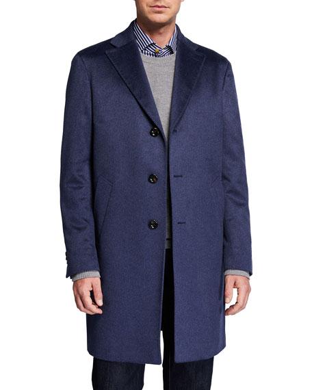 Neiman Marcus Men's Solid Cashmere Topcoat