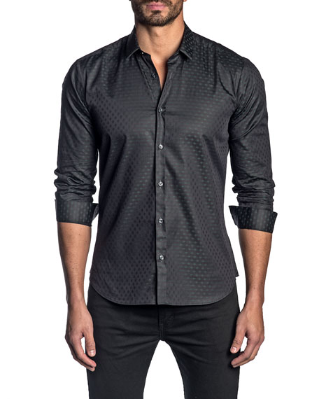 Jared Lang Men's Patterned Sport Shirt