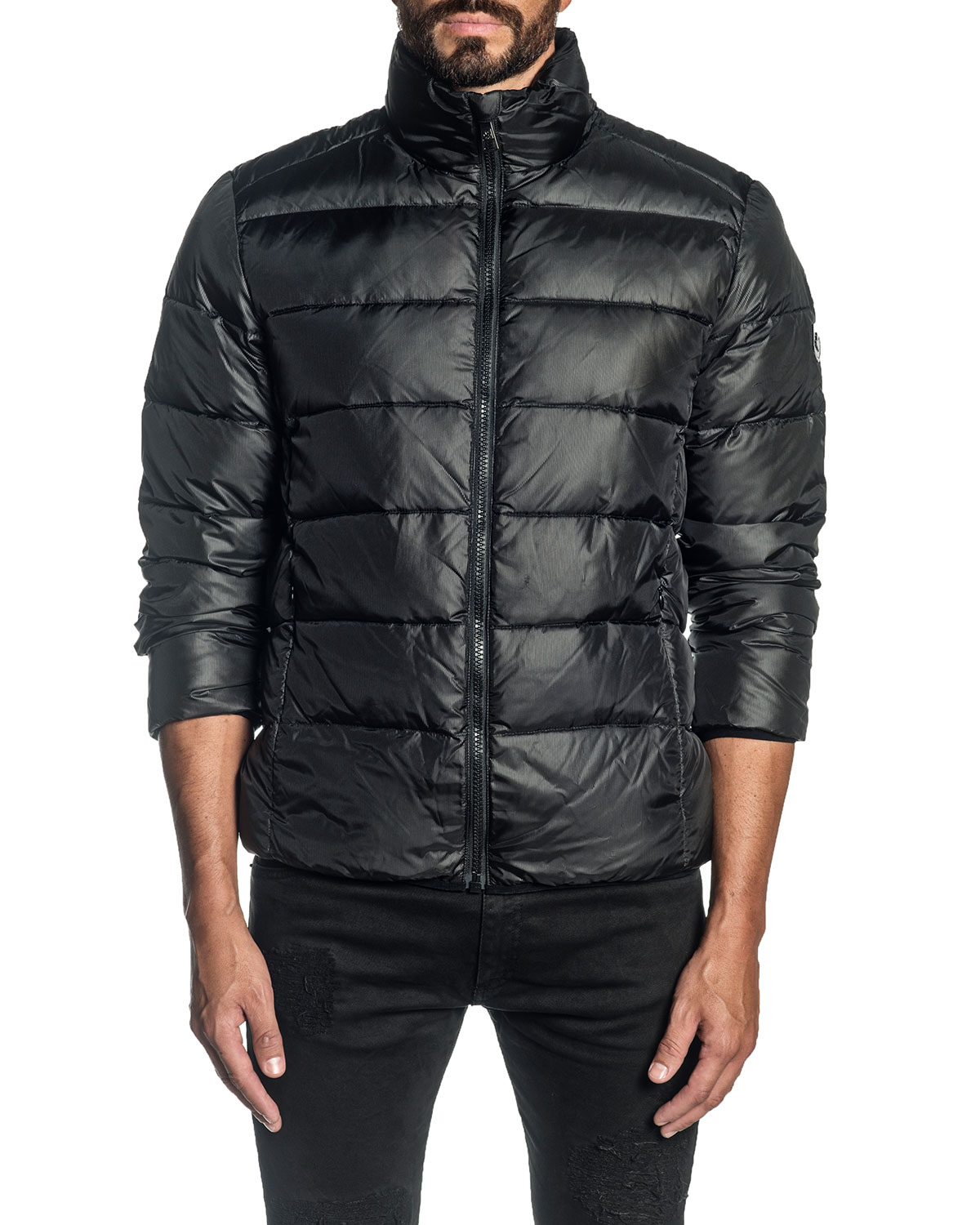 Men's Solid Down Puffer Jacket