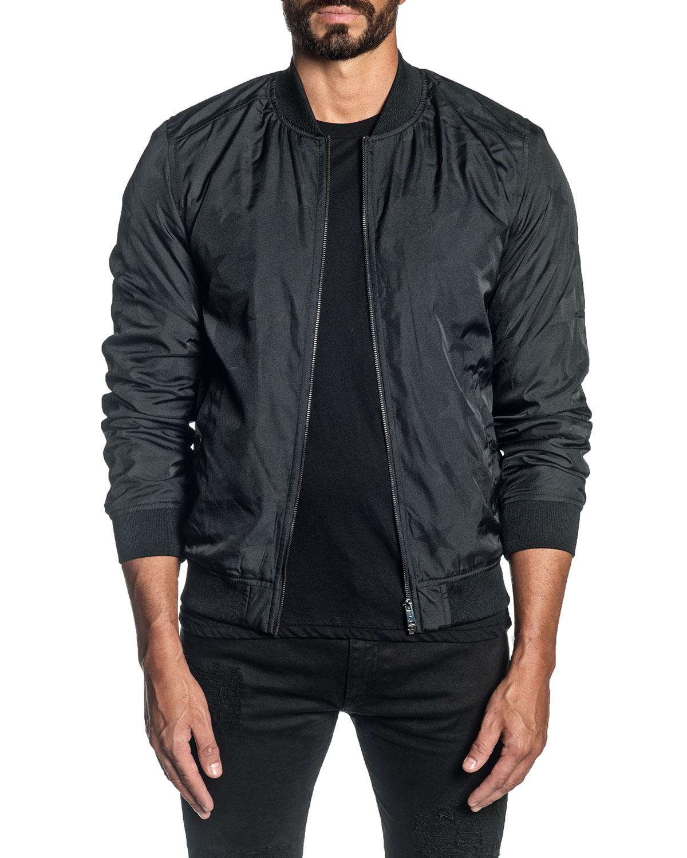 Men's Solid Bomber Jacket