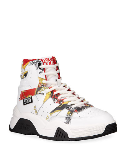 Men's Logo Barocco Chunky High-Top Sneakers