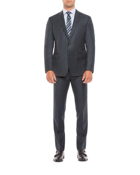 Giorgio Armani Men's Wool Pinstripe Two-Piece Suit