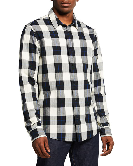 Scotch & Soda Men's Check Plaid Regular Fit Button-Down Shirt