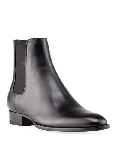 wyatt chelsea boot in smooth leather