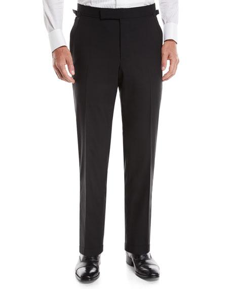 TOM FORD Men's O'Connor Wool Tuxedo Pants