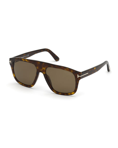TOM FORD Men's THOR Polarized Square Sunglasses