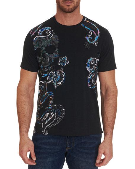 Robert Graham Men's Deserted Skull Paisley T-Shirt