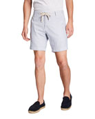 Faherty Men's Linen Drawstring Beach Shorts
