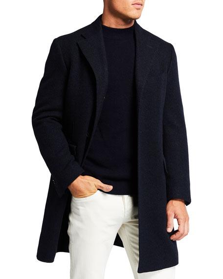 Corneliani Men's Solid Herringbone Jacket