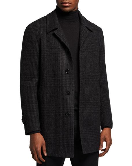 Corneliani Men's Plaid Balmacaan Coat