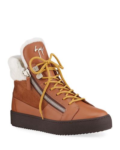 Men's Zip High-Top Sneaker Boots