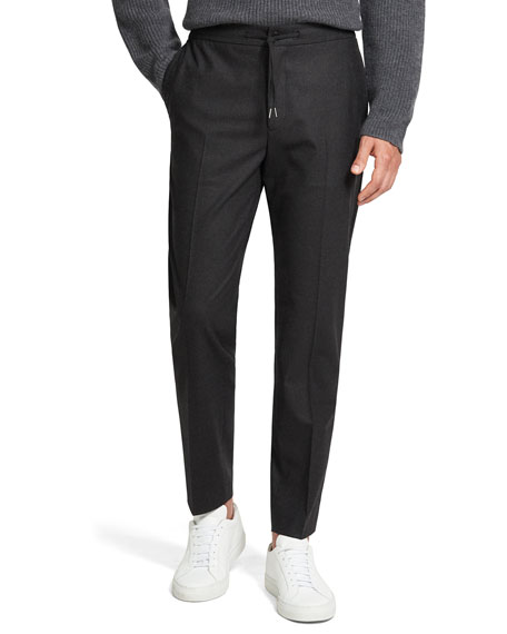 Theory Men's Theory Knowledge Wool Drawstring Pants