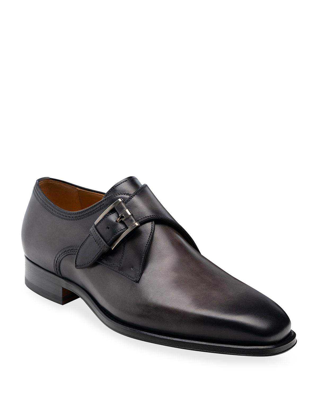 Men's Marco II Single-Monk Leather Dress Shoes