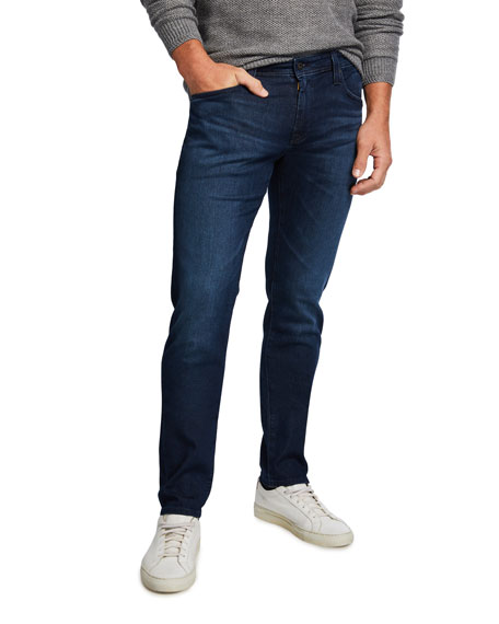 AG Adriano Goldschmied Men's Tellis Slim Dark-Wash Jeans
