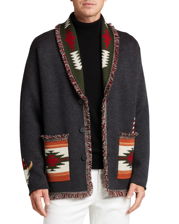 Men's Hi There Merry Xmas Cardigan Sweater
