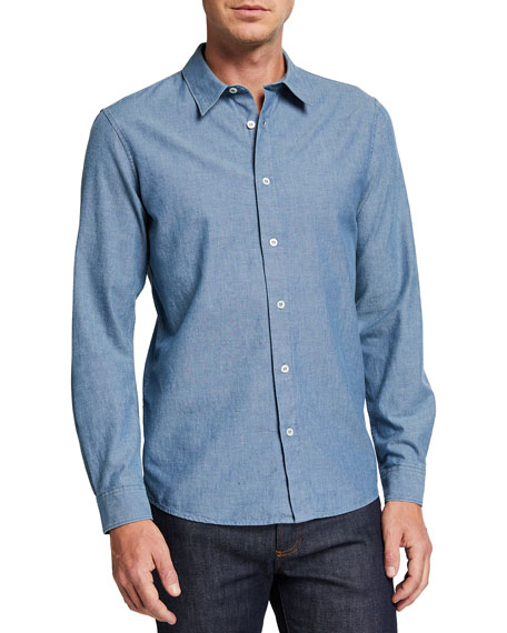 A.P.C. Men's Hector Button-Down Denim Shirt