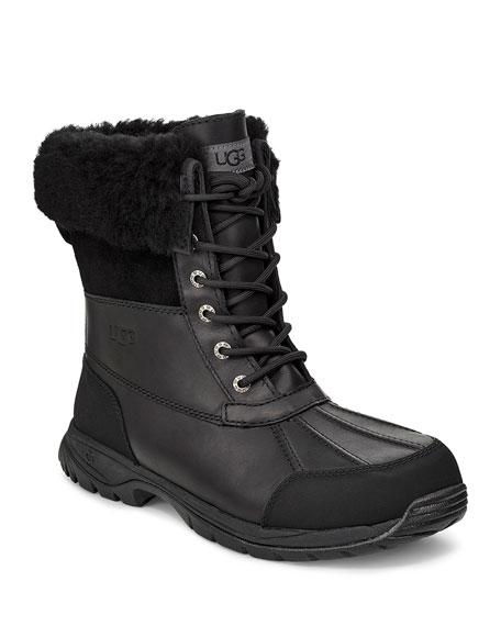 UGG Men's Butte Waterproof Leather Cuffed Boots