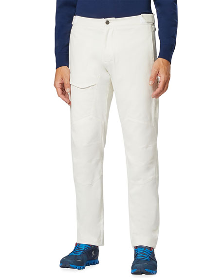 Sease Men's Brushed Cotton Sailing Cargo Pants