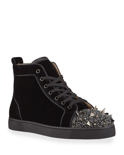 Men's Lou Pik Pik Strass Suede High-Top Sneakers