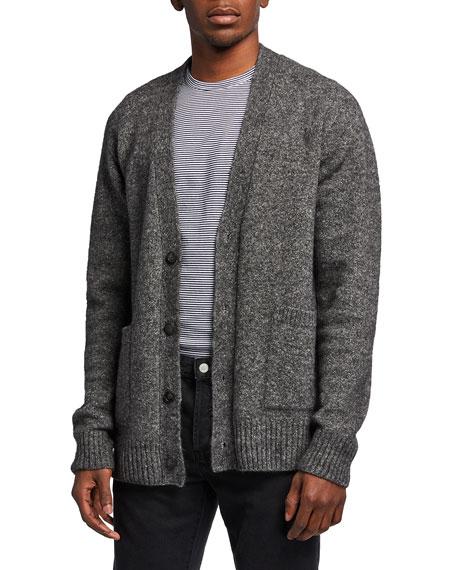 Officine Generale Men's Miles Melange Cardigan Sweater