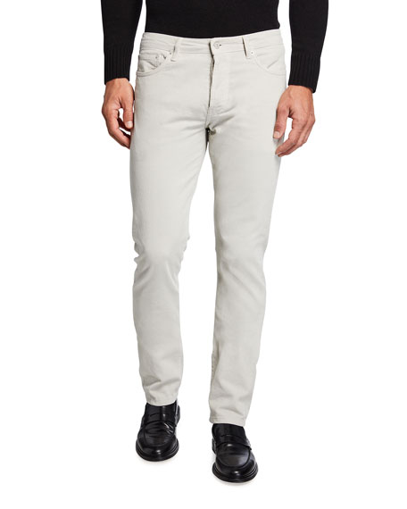 Officine Generale Men's Kurt Pigment-Dyed Corduroy Pants