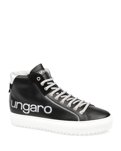 Men's Suede & Leather High-Top Sneakers