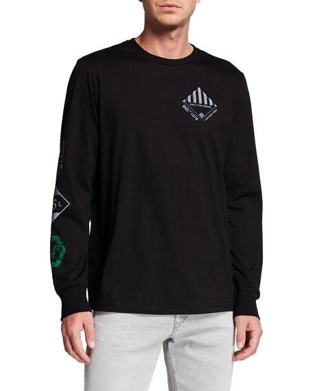 Diesel Men's T-Just-Ls-N60 Graphic T-Shirt