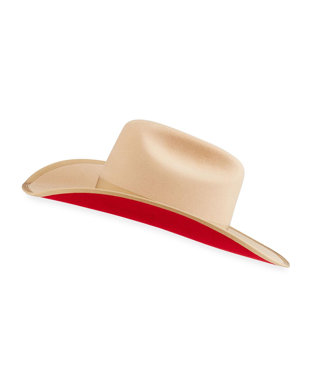 Western Golden Honey Wool Hat