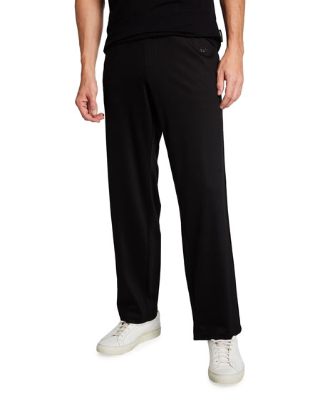 Emporio Armani Men's Hook Up Solid Jersey Athletic Pants