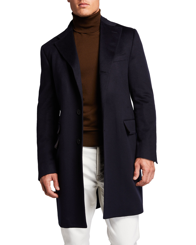 Men's Solid ID Topcoat w/ Bib