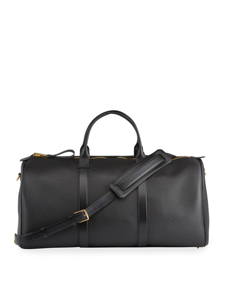 TOM FORD Men's Large Leather Duffel Bag