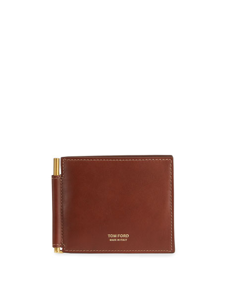 TOM FORD Men's Leather Wallet w/ Money Clip