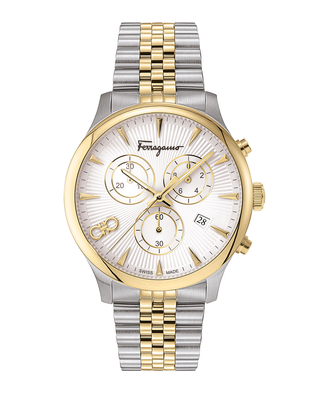 Men's 42mm Duo Two-Tone Chronograph Bracelet Watch