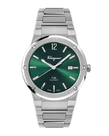 Salvatore Ferragamo Men's 41mm F-80 Sunray Bracelet Watch
