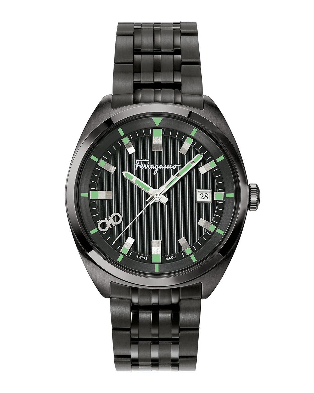 Men's 40mm Heritage IP Black Bracelet Watch