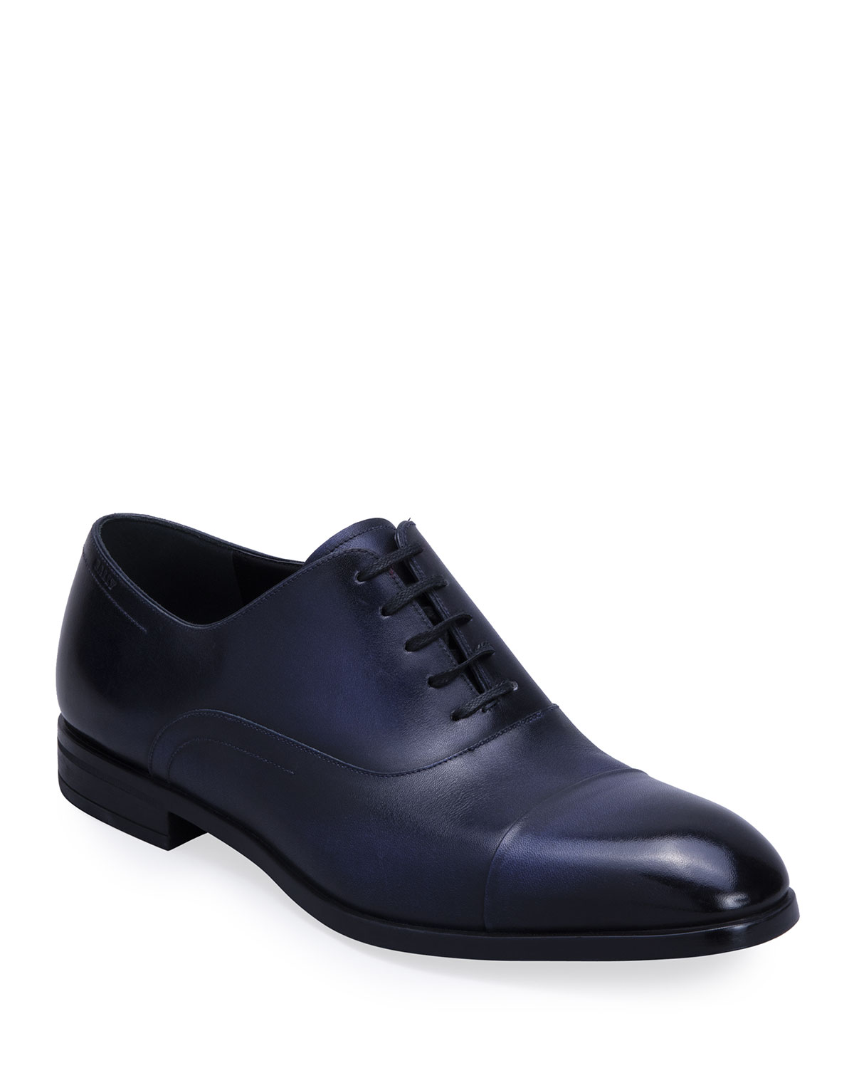 Bally MEN'S LIZZAR CALFSKIN CAP-TOE OXFORDS