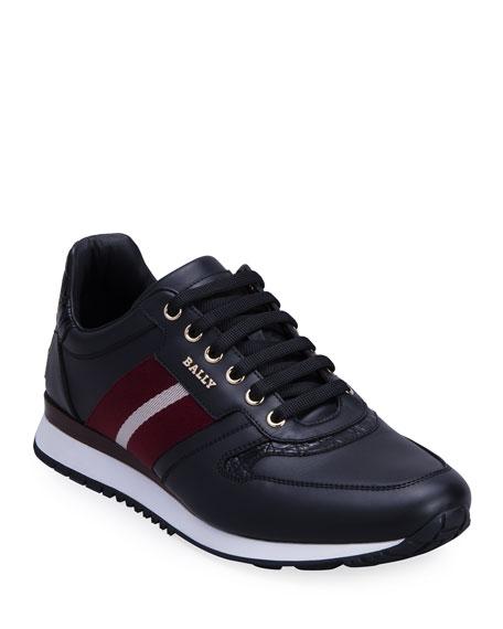 Bally Men's Askary Trainspotting Colorblock Low-Top Sneakers
