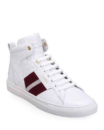 Men's Hexton Trainspotting Mock-Croc High-Top Sneakers