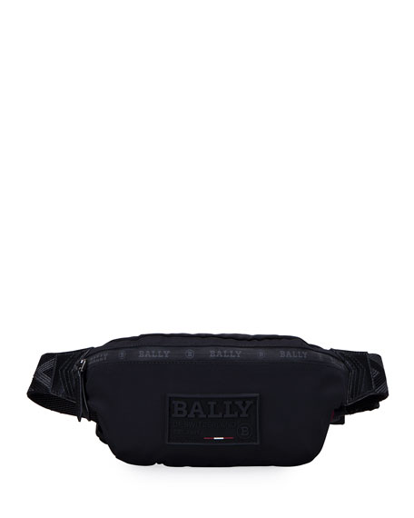 Bally Men's Waterproof Nylon Belt Bag