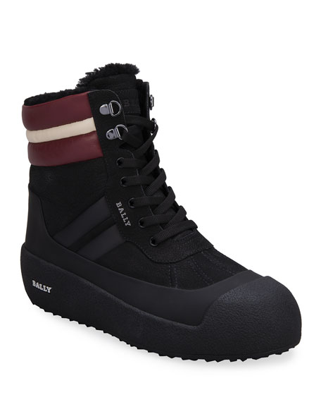 Bally Men's Trainspotting Shearling-Lined Curling Boots