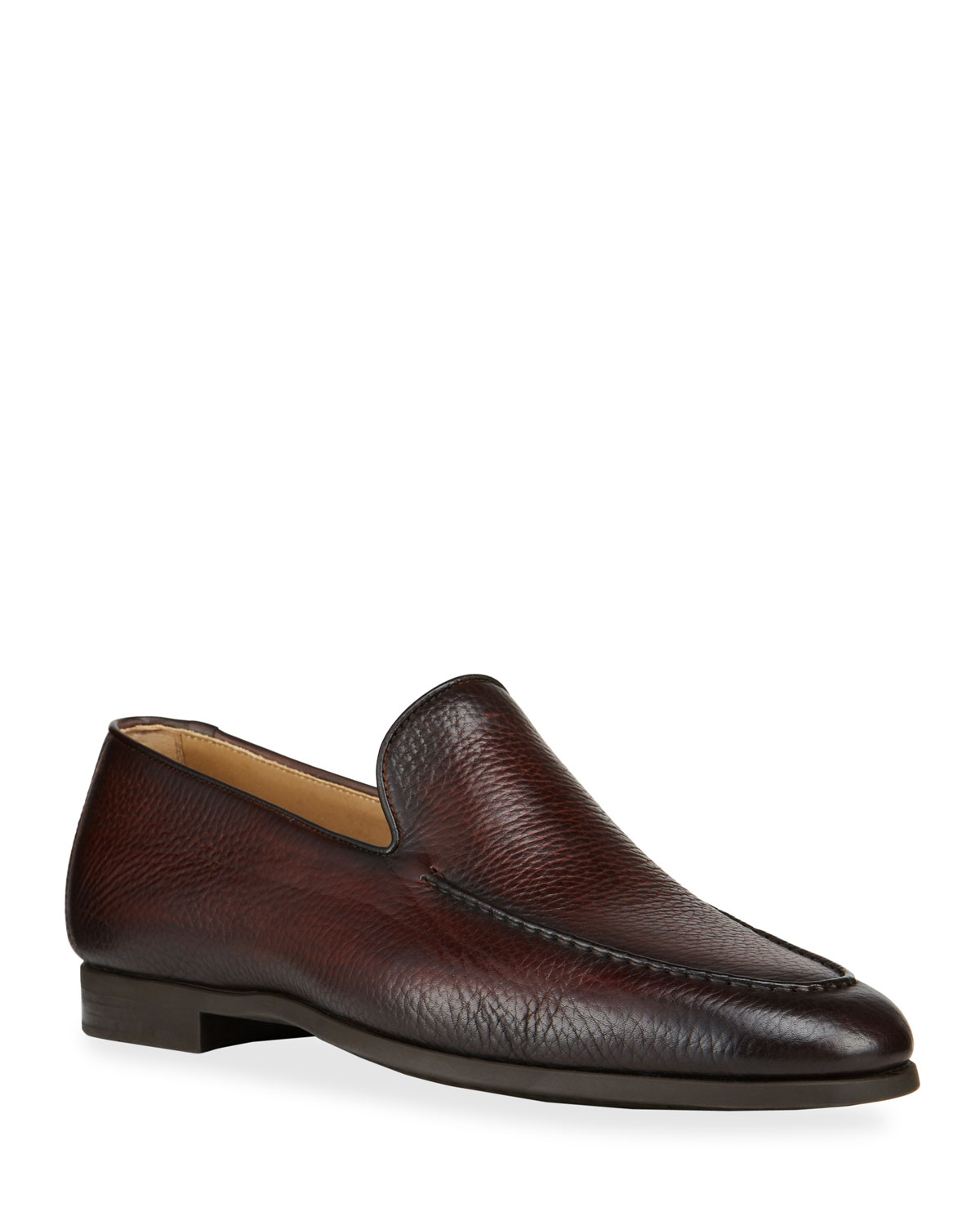 Magnanni MEN'S VENETIAN TEXTURED LEATHER LOAFERS