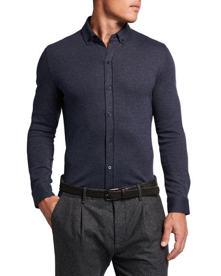 Vince Men's Birdseye Sport Shirt