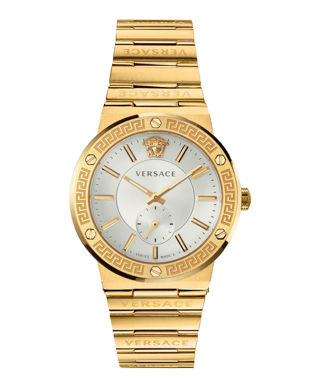 Men's 41mm Greca Logo Watch with Bracelet
