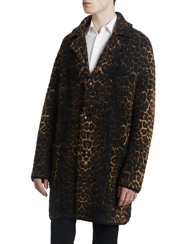 Men's Leopard Sweater Jacket